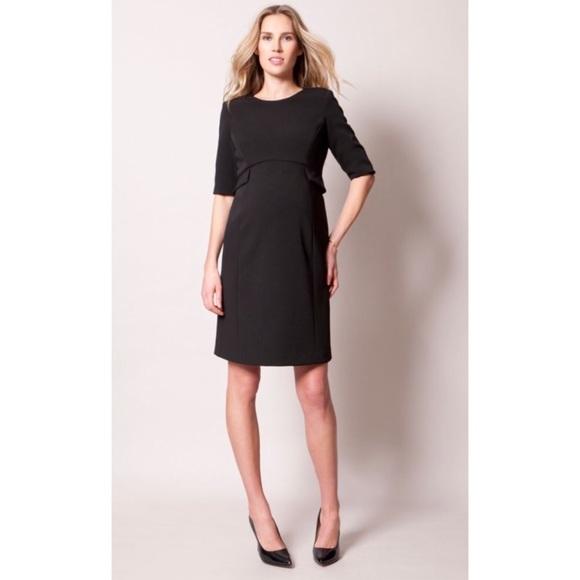 53da88ae94c30 Luxe by Seraphine Black Peplum Maternity Dress. M_5a9b55c93a112e1bf01bb6c7